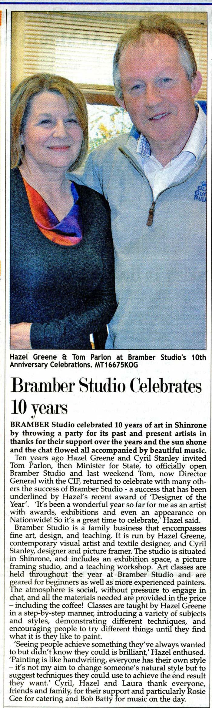 bramber_studio_anniversary_midland_tribune_apr_2015