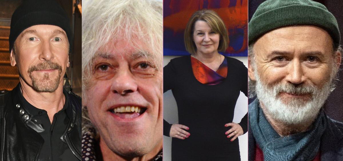 Incognito Artists, Hazel Greene, Bob Geldof, The Edge, Tommy Tiernan